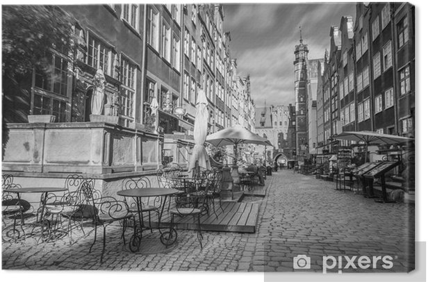 Architecture of Mariacka street in Gdansk, Poland Canvas Print - Europe
