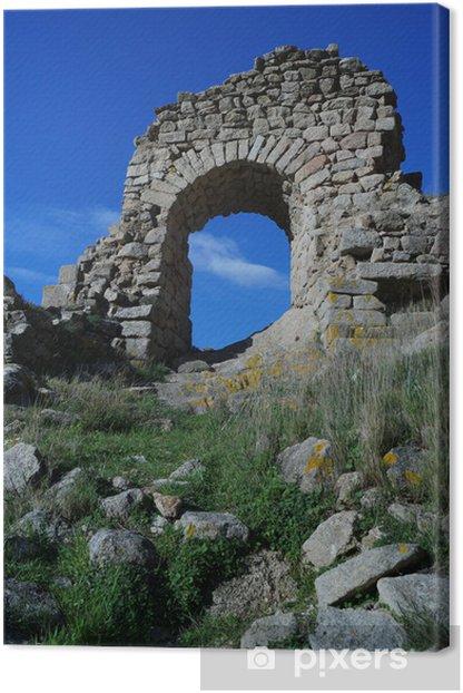 Arco medieval, Cataluña Canvas Print - Monuments