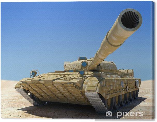Army tank. Canvas Print - Themes