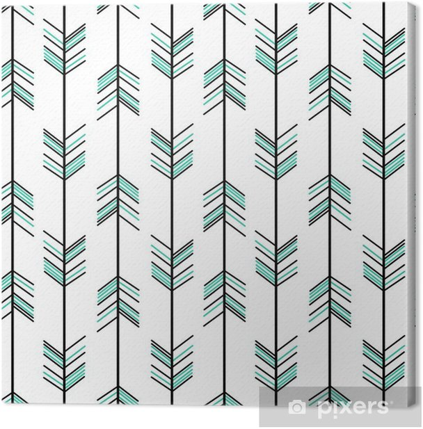 arrow seamless vector pattern background hipster illustration Canvas Print - Graphic Resources