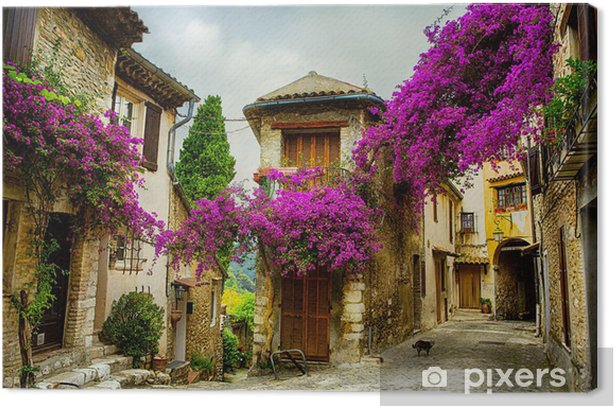 art beautiful old town of Provence Canvas Print - Themes