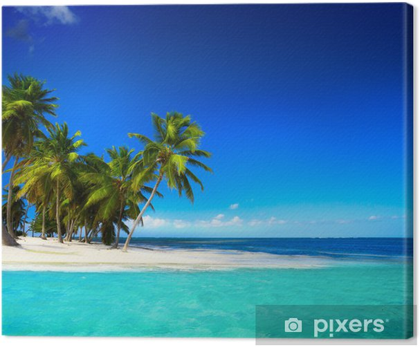 Art beautiful seaside view background Canvas Print - Styles