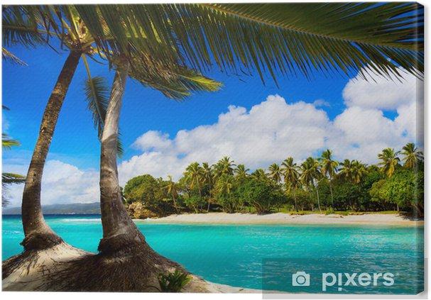 Art caribbean tropical sea lagoon Canvas Print - Destinations