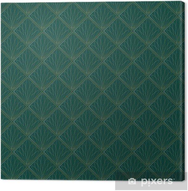 Art Deco Fans Pattern Canvas Print - Backgrounds