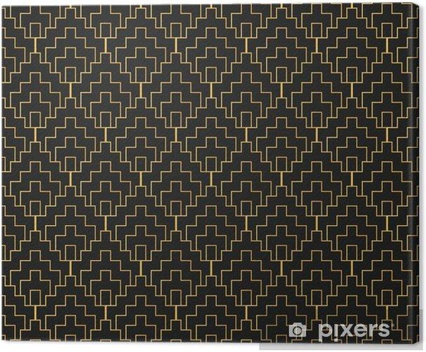 Art Deco seamless vintage wallpaper pattern. Geometric decorativ Canvas Print - Graphic Resources