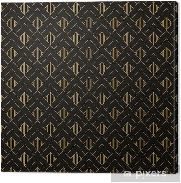 Art Deco seamless vintage wallpaper pattern. Geometric decorativ Canvas Print - Graphic Resources