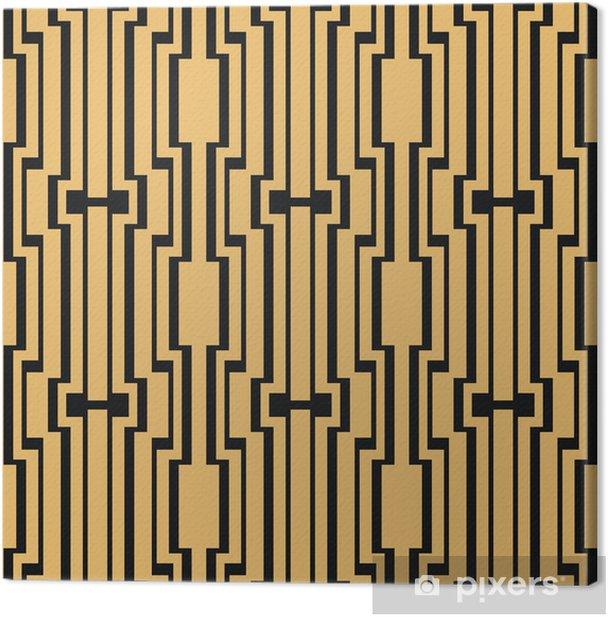 Art Deco seamless vintage wallpaper pattern Canvas Print - Background