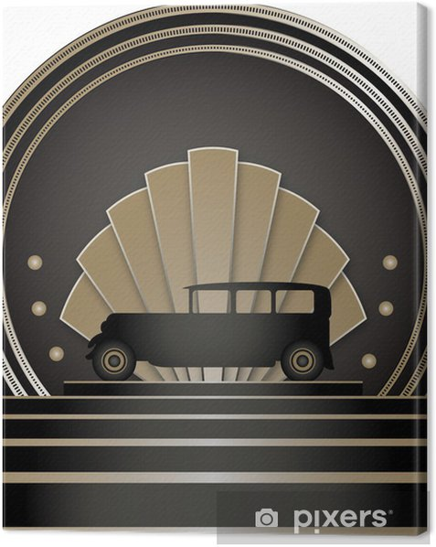 Art Deco Stye Badge Canvas Print - Backgrounds