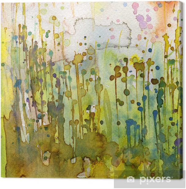 Artystyczne tło akwarelowe, Canvas Print - Styles