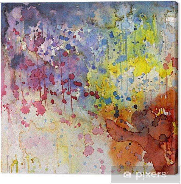 Artystyczne tło akwarelowe, Canvas Print -