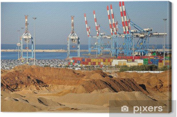 Ashdod seaport. Canvas Print - The Middle East