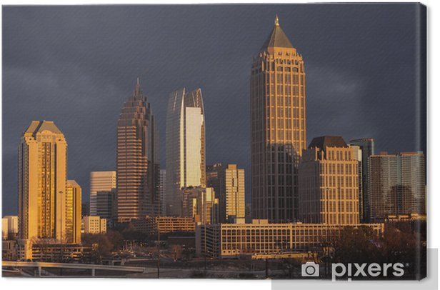 Atlanta Georgia Stormy Skyline Canvas Print - America