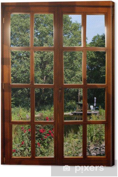 Ausblick in den Garten Canvas Print - iStaging