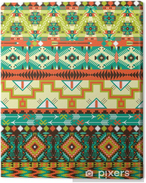 Aztec geometric seamless pattern Canvas Print - Styles