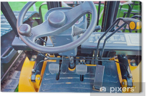background of the instrument panel in the cab Canvas Print - Agriculture
