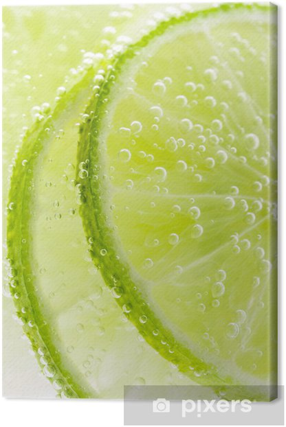 Background with fruit lime Canvas Print - Fruit