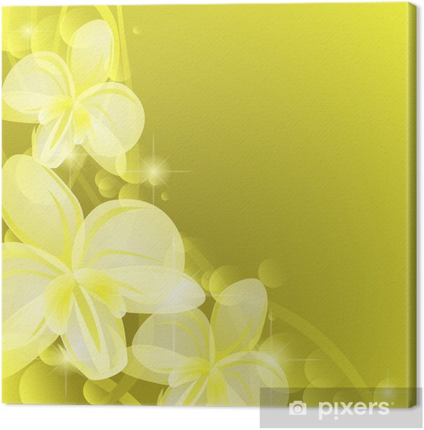 Background with yellow orchids Canvas Print - Backgrounds