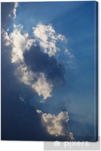 backlit clouds Canvas Print