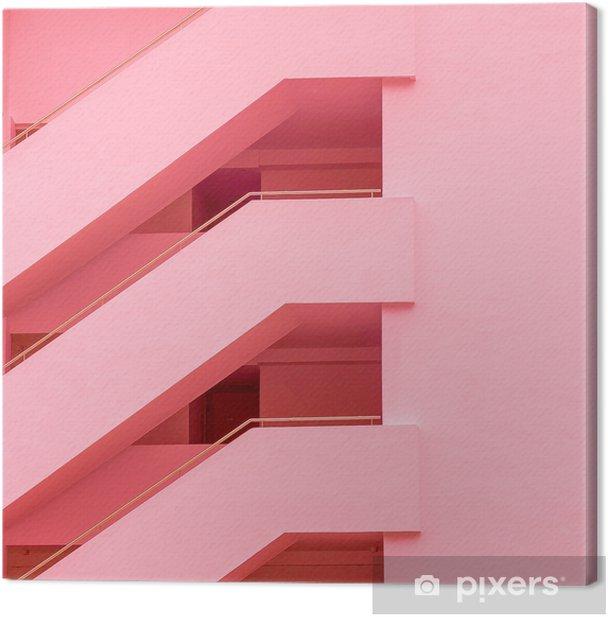 Balconies. Geometry. Fashion minimal pink mood Canvas Print - Plants and Flowers