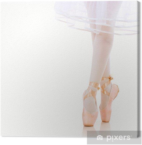 Ballerina Legs closeup. Ballet Shoes. Pointe. Canvas Print - Ballet