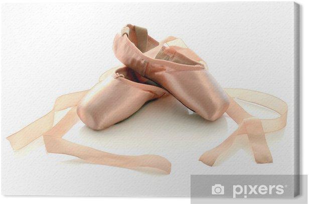 Ballet pointe shoes Canvas Print - Fashion