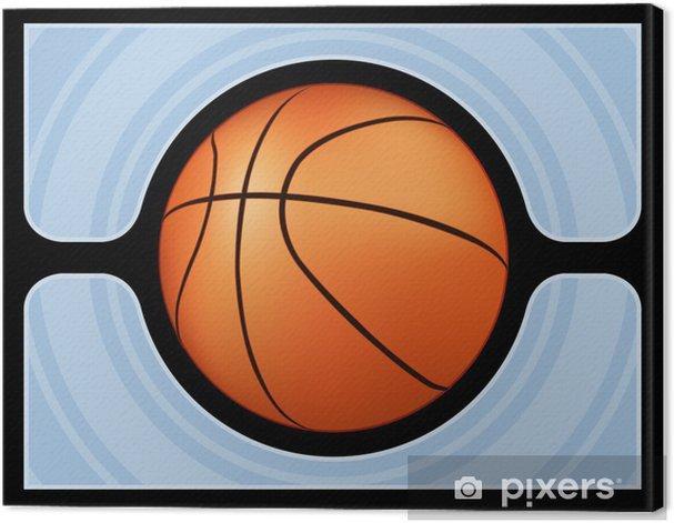 Ballon De Basketball Canvas Print