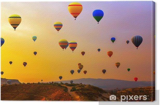 balloons CappadociaTurkey. Canvas Print - Air