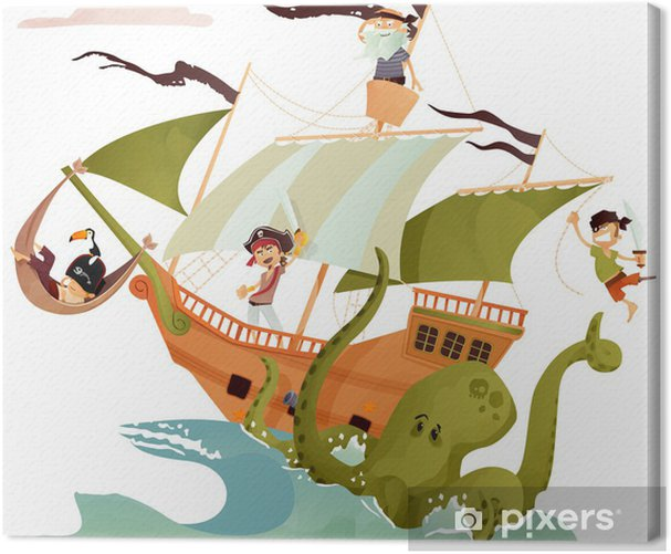 bateau pirate Canvas Print -