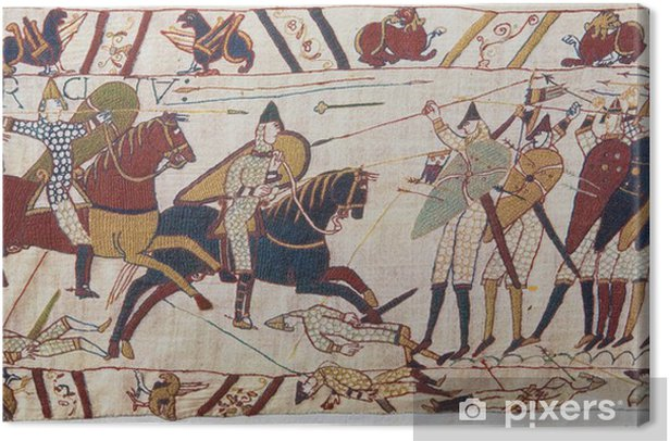 Bayeux tapestry - Norman invasion of England Canvas Print - Europe