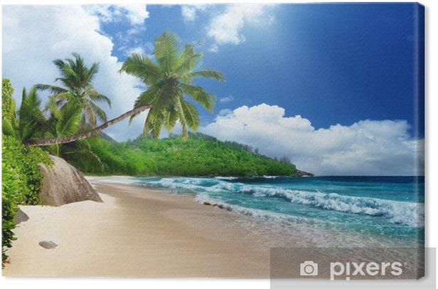 beach at Mahe island, Seychelles Canvas Print - Themes