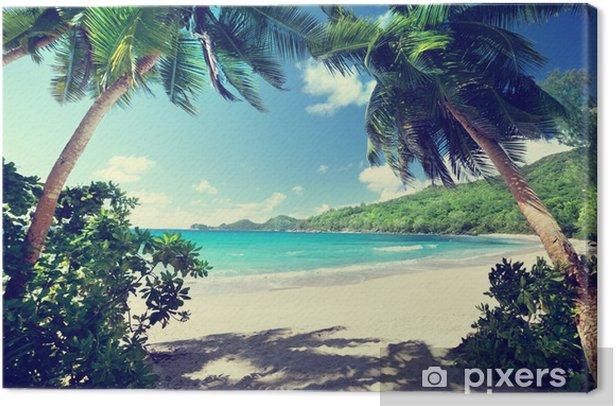 beach, Mahe island, Seychelles Canvas Print - Themes