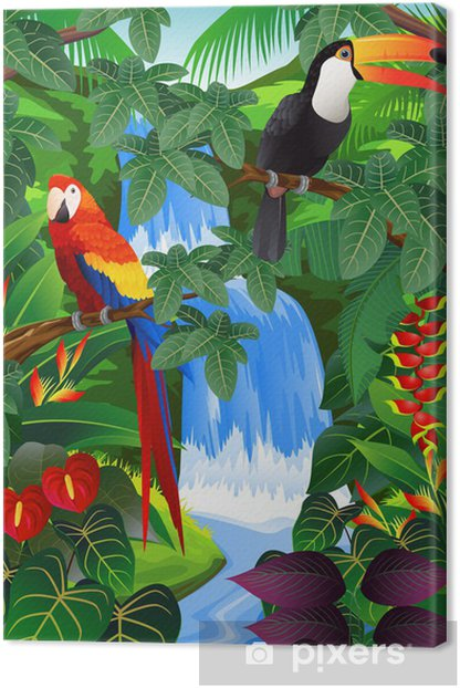 Beauiful tropical background Canvas Print - Themes