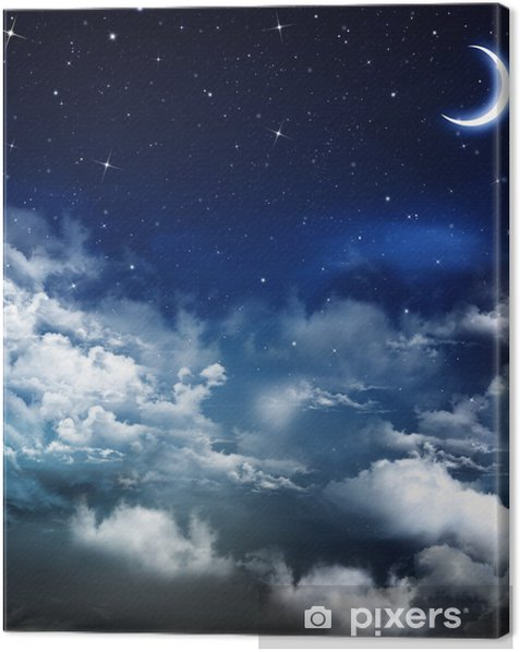 beautiful background, nightly sky Canvas Print - Themes