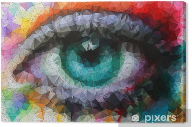beautiful eye in geometric styling abstract geometric background Canvas Print -