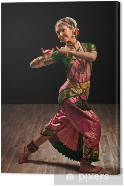 Beautiful Girl Dancer Of Indian Classical Dance Bharatanatyam Canvas Print Pixers We Live To Change