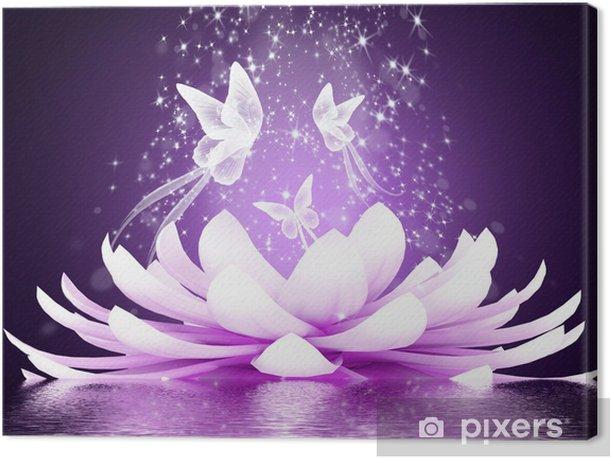 Beautiful lotus flower Canvas Print - Styles