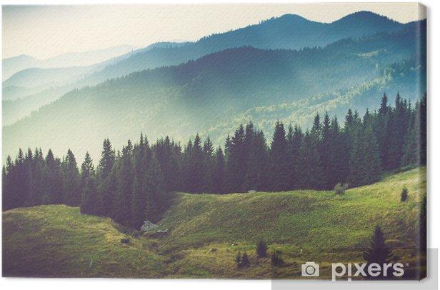 Beautiful summer mountain landscape. Canvas Print - Mountains