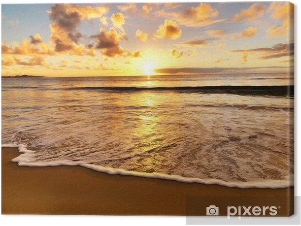 beautiful sunset on the beach Canvas Print - Themes