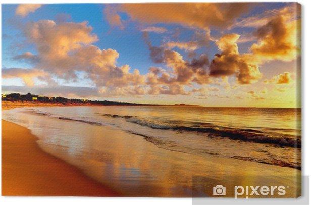beautiful sunset on the beach Canvas Print - Themes