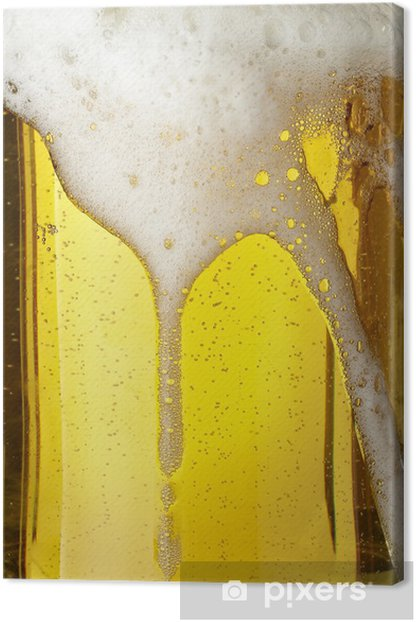 beer glass pint drink beverage alcohol Canvas Print - Themes