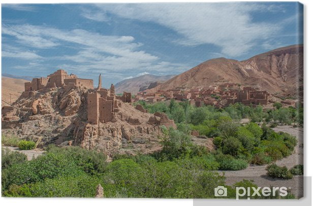 Berber kasbah in Dades gorge, Morocco Canvas Print - Themes
