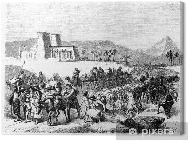 Biblical Scene : Exodus Canvas Print - Religion
