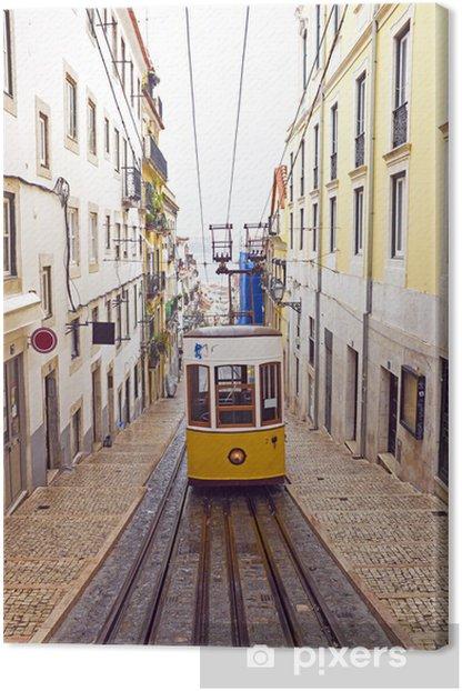 Bica tram in Lisbon Portugal Canvas Print - European Cities