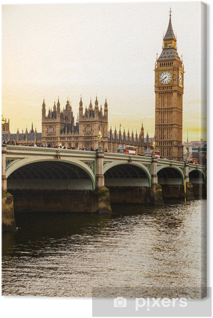 Big Ben Clock Tower and Parliament house at city of westminster, Canvas Print - Themes