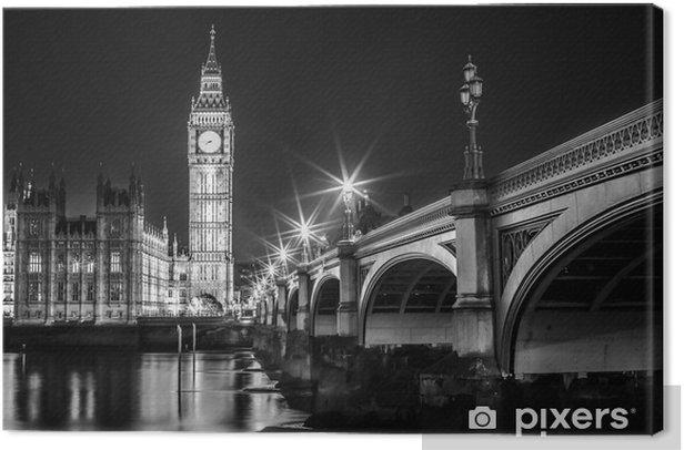 Big Ben Clock Tower and Parliament house Canvas Print -