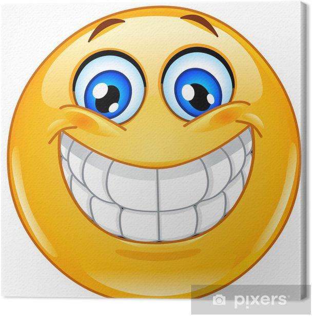 Big smile emoticon Canvas Print - Signs and Symbols