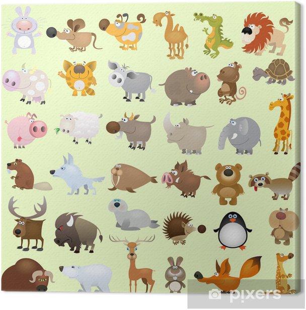 Big vector cartoon animal set Canvas Print - Destinations