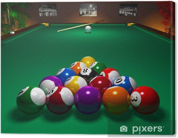 Billiard table in club Canvas Print - Entertainment