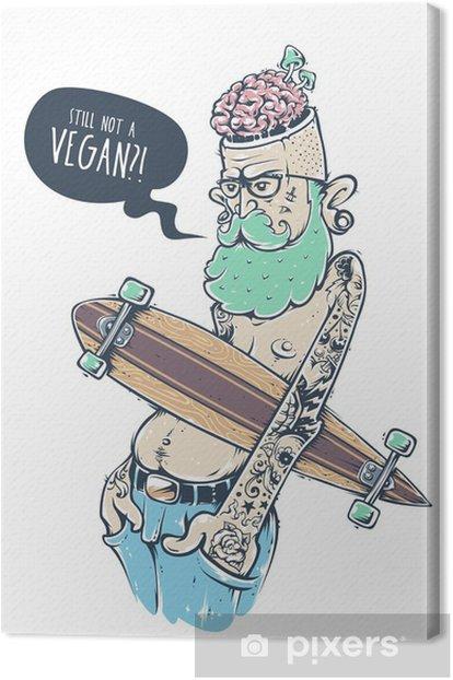 Bizarre Hipster Art Canvas Print - Men