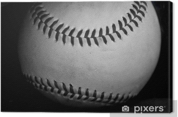 black and white baseball Canvas Print - Styles